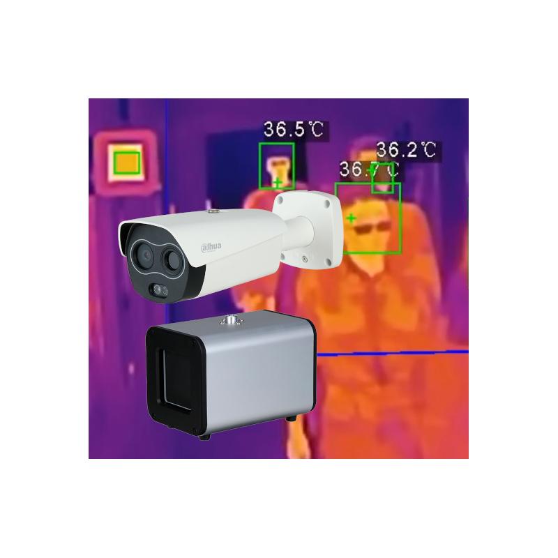 Bekontaktis kūno temperatūros matavimas - sistema žmonių srautui