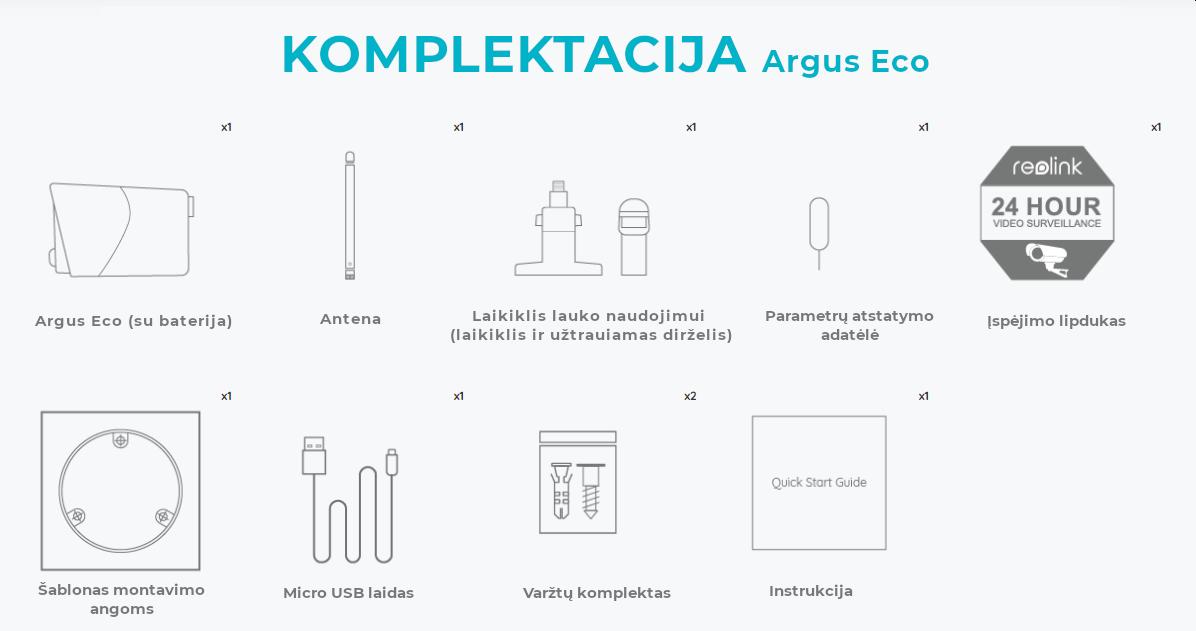 Argus Eco komplektacija